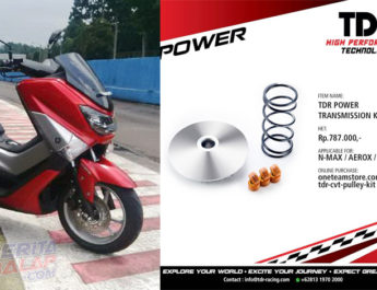 Modal 800 Ribuan, Upgrade Akselerasi & Top Speed NMax Dengan Part TDR Racing Ini
