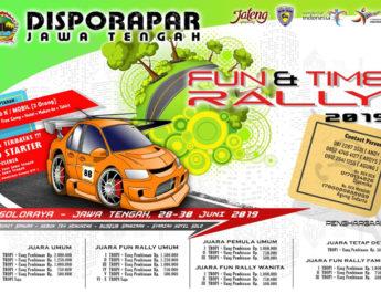 Launching Disporapar Jawa Tengah Fun & Time Rally 2019 : Animonya Spesial, Edukasi Destinasi Wisata