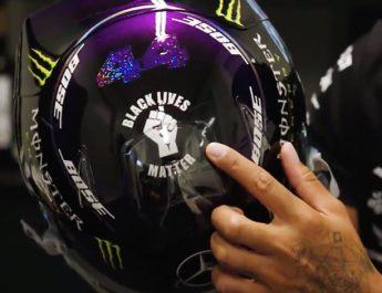 "Desain Helm Juara Dunia F1 Hamilton Keren, Perjuangkan Kesetaraan Kulit Hitam ""Black Lives Matter"""